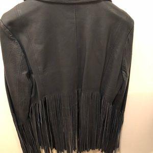 Genuine Leather fringe jacket